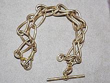 Hallmarked 9ct gold Albert chain 55.2 gms