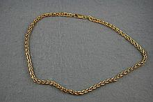 Good 9ct yellow gold chain approx 43 cm in length,