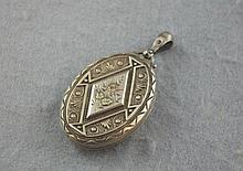 Victorian hallmarked silver locket Birmingham
