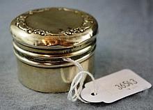 Sterling silver round lidded box hallmarked