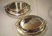 Pair of good silver plated serving dishes