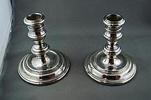 Good George V silver hallmarked candlesticks