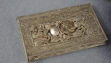 Chinese silver card case with dragon decoration