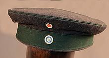 Mutze Forestier bavarois, 1ère guerre mondiale  Coiffe avec accident