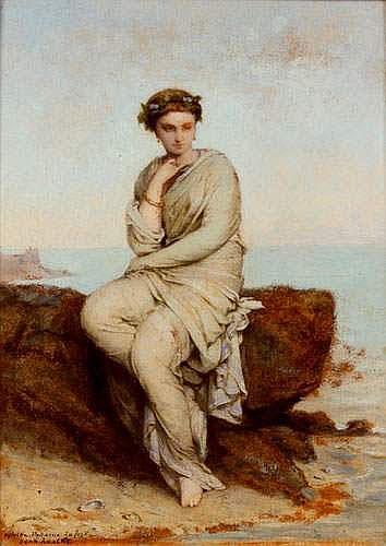 Jean Ernest AUBERT 1824-1906 - Portrait de femme