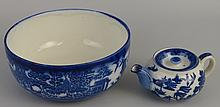 A Doulton Burslem fruit bowl, of circular form transfer printed in blue and