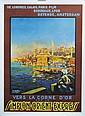 [AFFICHE]. BARBEY M. (d'après Ziem). Vers la Corne d'Or par le Simplon-Orient-Express.   Affiche lithographiée P.L.M. Paris. Gamber et associés. Dim.108x79 cm. Entoilée.