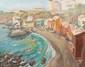 Auguste HARZIC - «Paysage en bord de mer»