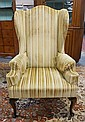 QUEEN ANN STYLE WING CHAIR