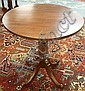 SMALL ROUND MAHOGANY PEDESTAL TABLE