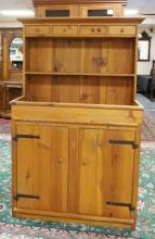PINE HUTCH. 65 IN TALL. 43 IN WIDE.