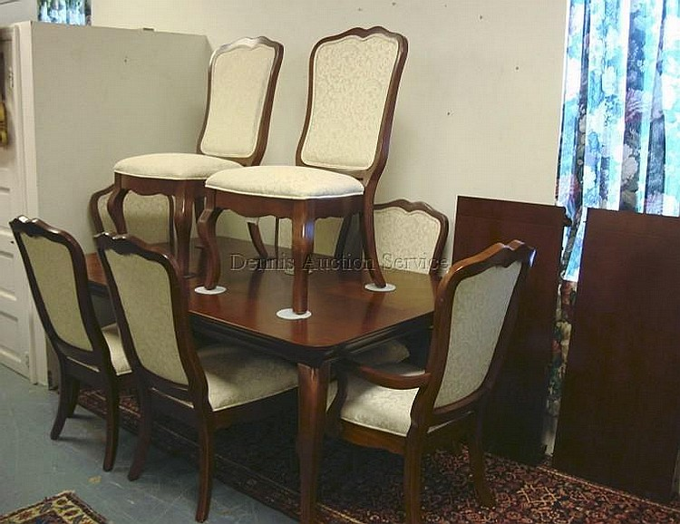 THOMASVILLE IMPRESSIONS 11 PC DINING ROOM SET TABLE W TWO 20 IN
