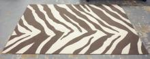 MODERN RUG WITH ZEBRA STRIPING. 8 FT X 4 FT 10 IN.