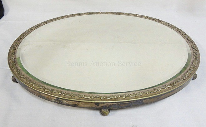 GORHAM LG SILVER PLATED OVAL PLATEAU W/BEVELLED