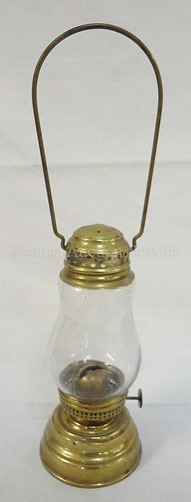 BRASS SKATER'S LANTERN; 6 3/4 IN H