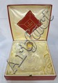BACCARAT REMY MARTIN COGNAC BOTTLE W/APPLIED TOUCHMARKS & RIGAREE; FLEUR DI LIS STOPPER; IN ORIGINAL BOX