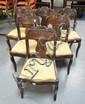 SET OF 6 CARVED MAHOGANY SABRE LEG EMPIRE CHAIRS