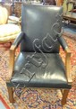 RALPH LAUREN BLACK LEATHER DESK CHAIR BY HENREDON