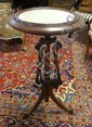 VICTORIAN MARBLE TOP CANDLE STAND