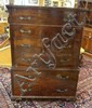 CARVED MAHOGANY 6 DRW HIGH CHEST