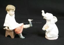 2 LLADRO PORCELAIN FIGURES. *LUCKY IN LOVE* #6462 AND *TALK TO ME* #5987.