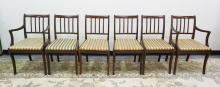 SET OF 6 MAHOGANY DINING CHAIRS. 2 ARM AND 4 SIDE CHAIRS.