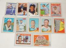 GROUP OF 11 TOPPS AND UPPER DECK BASEBALL CARDS. 50'S-60'S AND 4 1980'S ROOKIE CARDS. INCLUDES WILLIE MAYS ALL STAR CARD.