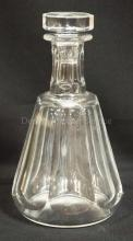 BACCARAT CUT CRYSTAL DECANTER W/ ORIGINAL STOPPER. 8 1/2 IN H