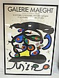 FRAMED POSTER; GALERIE MAEGHT, PARIS - JOAN MIRO;