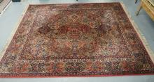 KARASTAN RUG. 10 FT 8 INCH X 8 FT 8 INCHES.