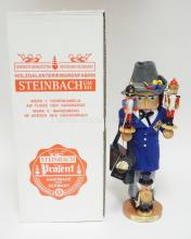 STEINBACH NUTCRACKER & SMOKER W/BOX. *COLLECTOR*. 17 1/2 IN.