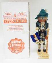 STEINBACH NUTCRACKER W/BOX. *LAST GERMAN MARK*S1699. 18 1/2 IN. SIGNED.