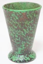 WELLER *COPPERTONE* ART POTTERY VASE. 8 1/2 IN TALL. REPAIRED.
