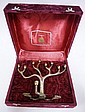 ROSENTHAL *SANDRA KRAVITZ ORIGINAL* MINORAH IN VELVET COVERED BOX