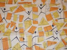 L ANTON MAIX/ PAUL MC COBB *KITES AND MITES* FABRIC. 52 IN X 35 IN