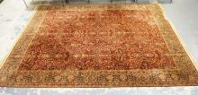 WHITTALL ANGLO-PERSIAN RUG. 8 FT 11 IN X 11 FT 11 IN