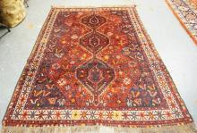 ORIENTAL RUG MEASURING 7 FT 8 INCH X 5 FT 7 INCHES.