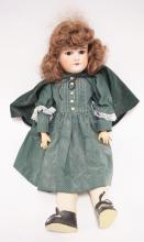 GERMAN BISQUE HEADED DOLL MARKED *FLORADORA* AND *A 5 M*. 19 1/2 INCHES TALL.