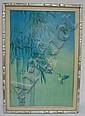 FRAMED ARTWORK BY HAWAIIAN ARTIST DAVID LEE; HUMMINGBIRD; INFO ON REVERSE