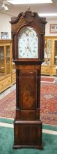 WILLIAM KAYE, LIVERPOOL TALL CASE CLOCK. 18TH C. MISSING SOME FRETWORK AT THE TOP. 102 INCHES TALL. 22 3/4 INCHES WIDE.