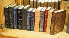 GROUP OF 12 EASTON PRESS LEATHER BOUND BOOKS WITH GOLD GILT EDGES. ALL ARE PRESIDENTIAL IN SUBJECT.