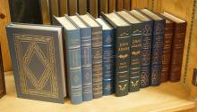 GROUP OF 11 EASTON PRESS LEATHER BOUND BOOKS WITH GOLD GILT EDGES. ALL ARE PRESIDENTIAL IN SUBJECT.