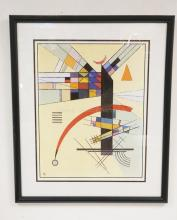DANISH MODERN ART PRINT., 17 X 22 1/4 INCHES.