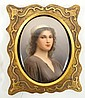 OVAL PORTRAIT ON PORCELAIN, SIGNED WAGNER, OF A
