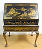 CHINOSSERIE DECORATED SLANT FRONT DESK W/HAIRY PAW