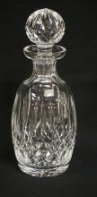 WATERFORD CRYSTAL DECANTER WITH ORIGINAL STOPPER. 10 1/4 INCH DIA.