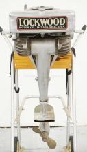 LOCKWOOD CHIEF MODEL B OUTBOARD BOAT MOTOR. SERIAL #22363. ORIGINAL CONDITION.