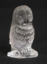 WATERFORD CRYSTAL OWL FIGURE. 4 1/8 INCHES HIGH.