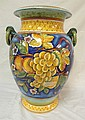 HAND PAINTED ITALIAN FLOOR URN, SIGNED *PICCADILLY