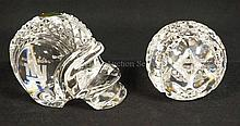 2 WATERFORD CRYSTAL SPORTS PAPERWEIGHTS; SUPERBOWL